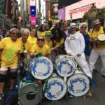 event-band-plays in times square for brazilian day event